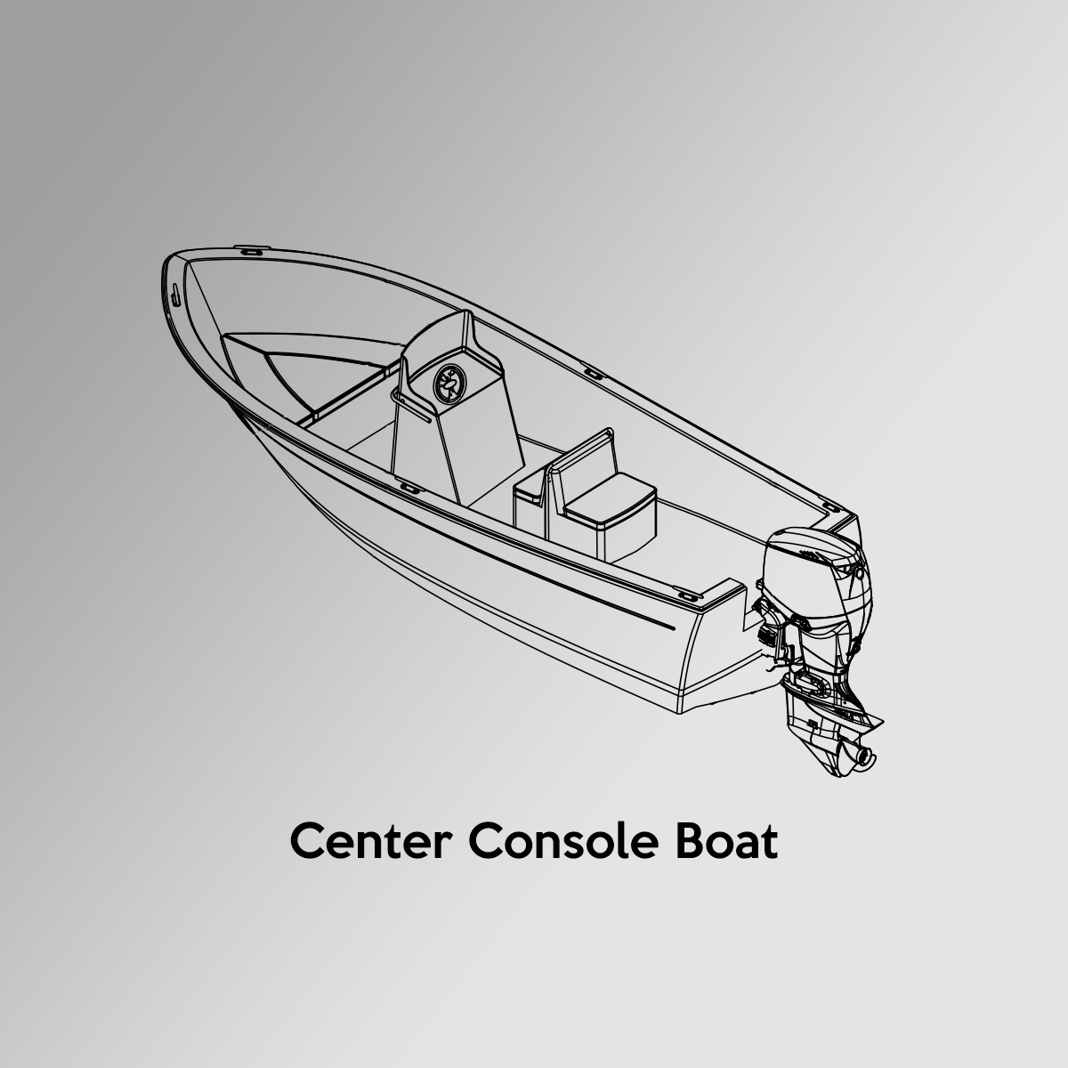 Center Console Boat Drawing