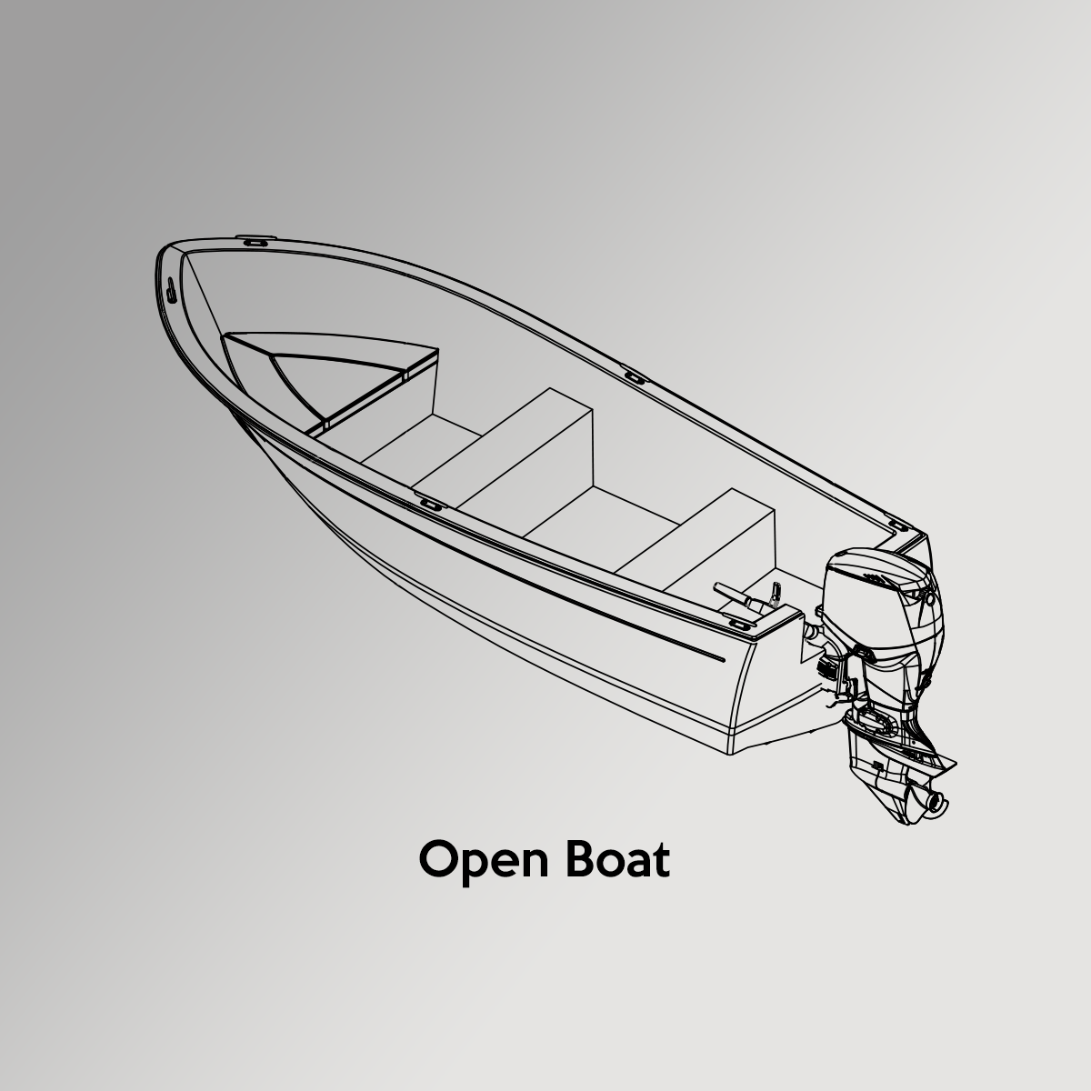 Open Boat Drawing