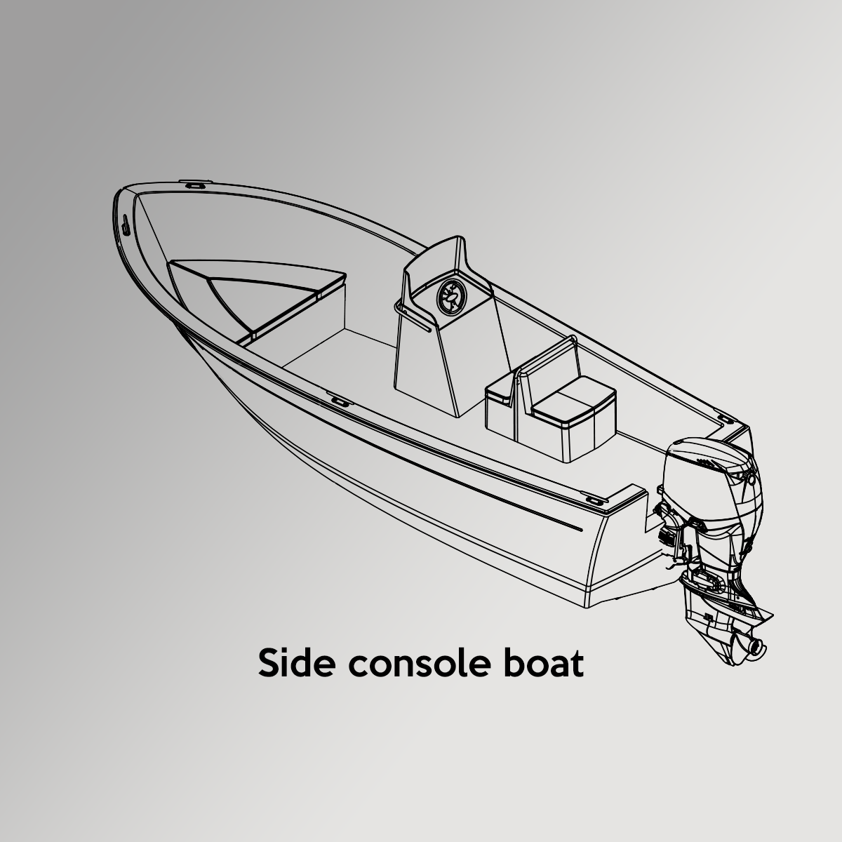 Side Console Boat Drawing
