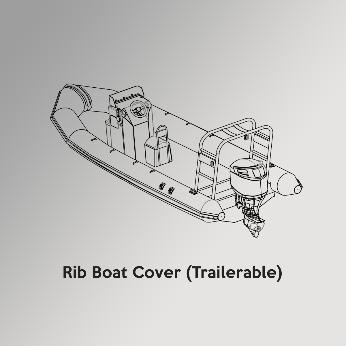 Rib Boat Drawing