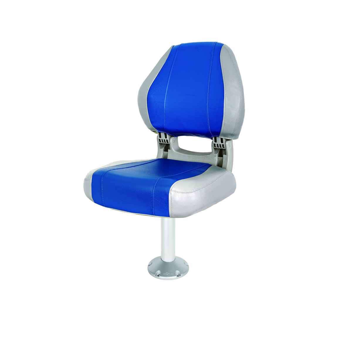 Sirocco Folding Seat Grey/Blue With 330mm Fixed Pedestal