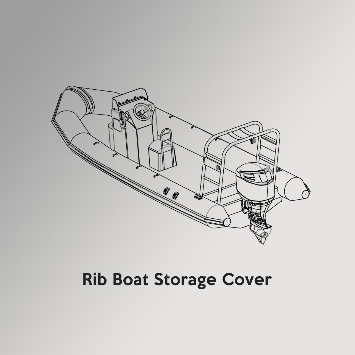Rib Boat Drawing