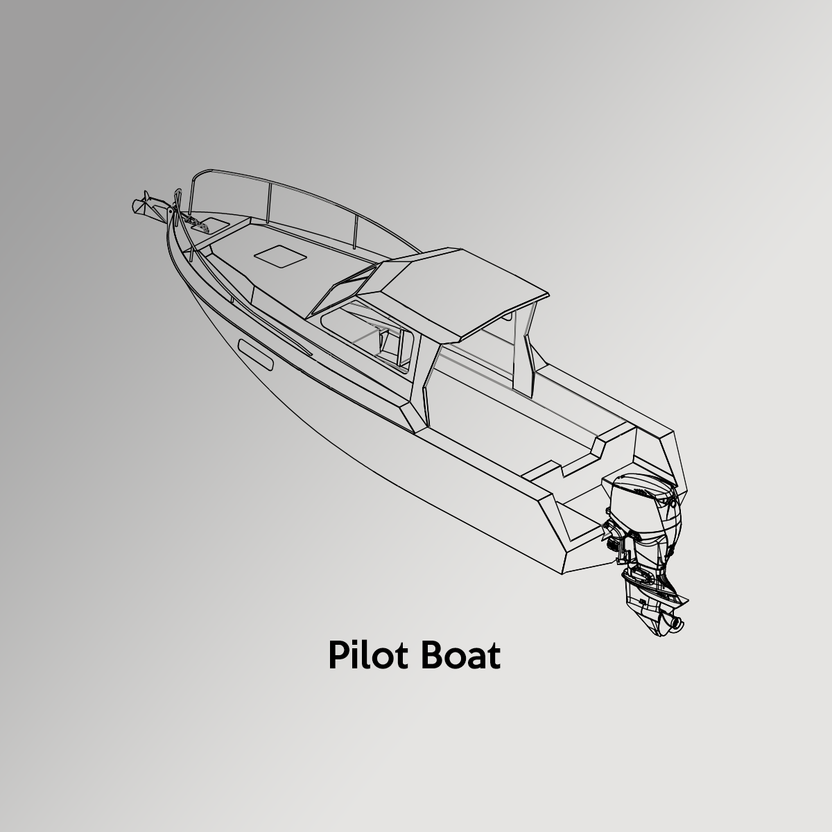 Pilot / Cruiser Boat Drawing