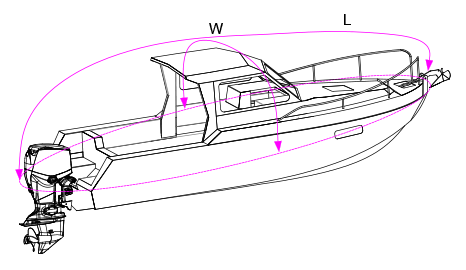 Pilot / Cruiser Boat Cover Measurement